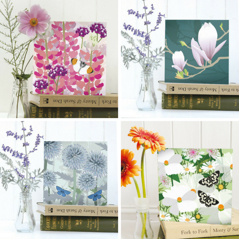 Jane Crick, garden flowers greeting cards, cards featuring flowers, Jane Crick interview,