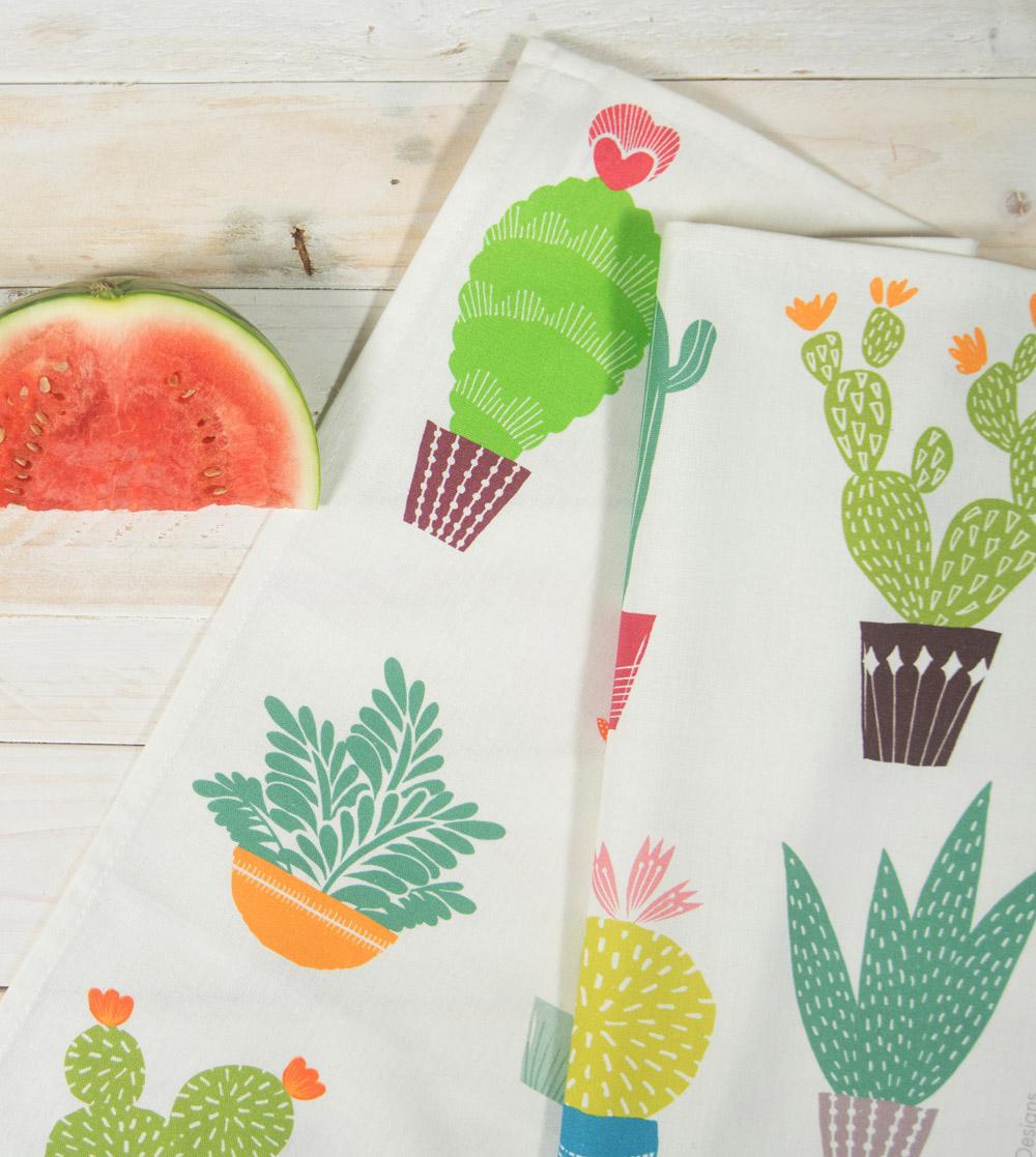 cactus tea towel, MaggieMagoo Designs, Maggie Magoo, interview, designer, meet the maker, Carole Fenwick,