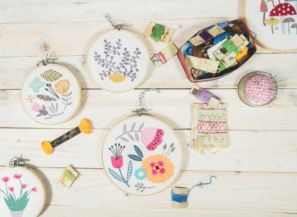 embroidery hoops, contemporary embroidery hoops, contemporary embroidery, MaggieMagoo Designs, Maggie Magoo, interview, designer, meet the maker, Carole Fenwick,