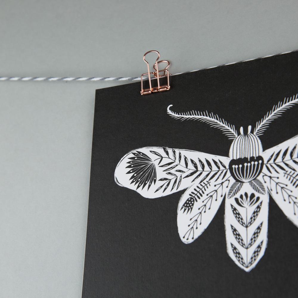 moth print, moth art, MaggieMagoo Designs, Maggie Magoo, interview, designer, meet the maker, Carole Fenwick,