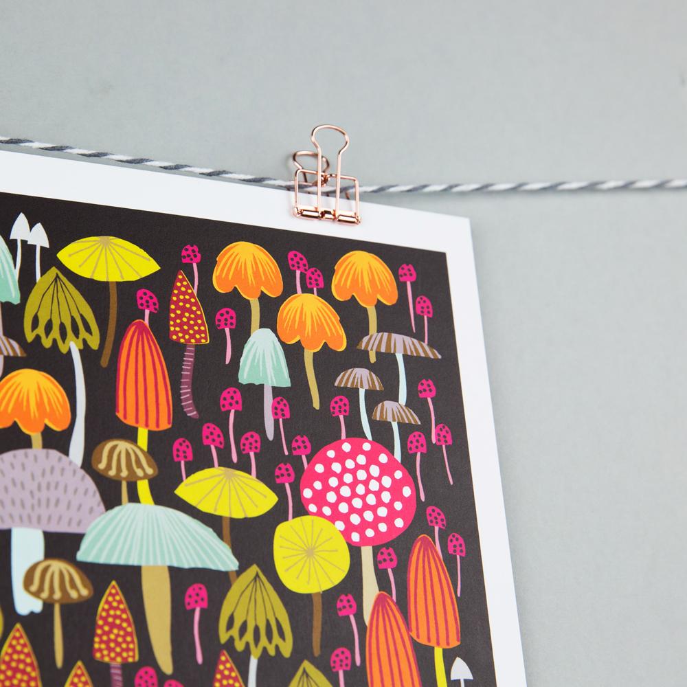 toadstool print, maggie magoo notebook, MaggieMagoo Designs, Maggie Magoo, British designer, meet the maker interview, print and pattern,