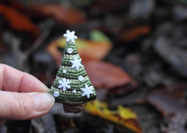 fancy knittles, fancyknittles, miniature crochet, tiny crochet, crochet, christmas trees, crochet christmas tree, crochet christmas decoration,