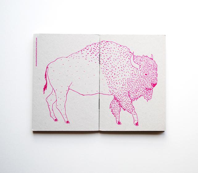 bison notebook, Ella Osborne, best stocking fillers, handmade stocking fillers, animal themed christmas presents, animal themed stocking fillers, animal stocking fillers,