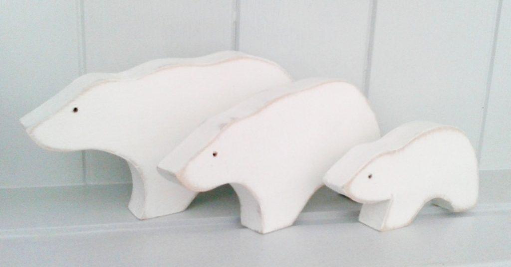 polar bear book ends, Kittiwake Design, best stocking fillers, handmade stocking fillers, animal themed christmas presents, animal themed stocking fillers, animal stocking fillers,