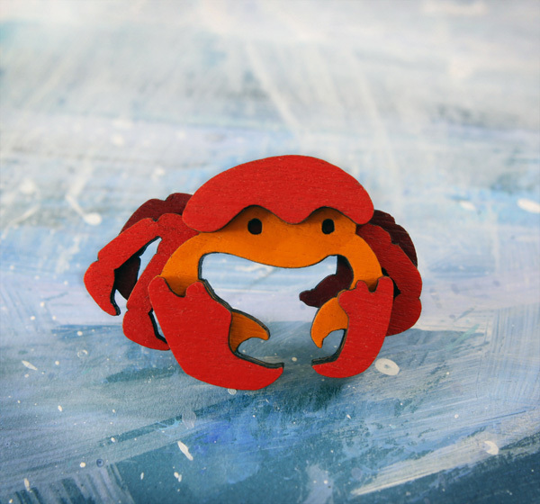 Crab brooch, Tomsky Store, best stocking fillers, handmade stocking fillers, animal themed christmas presents, animal themed stocking fillers, animal stocking fillers,