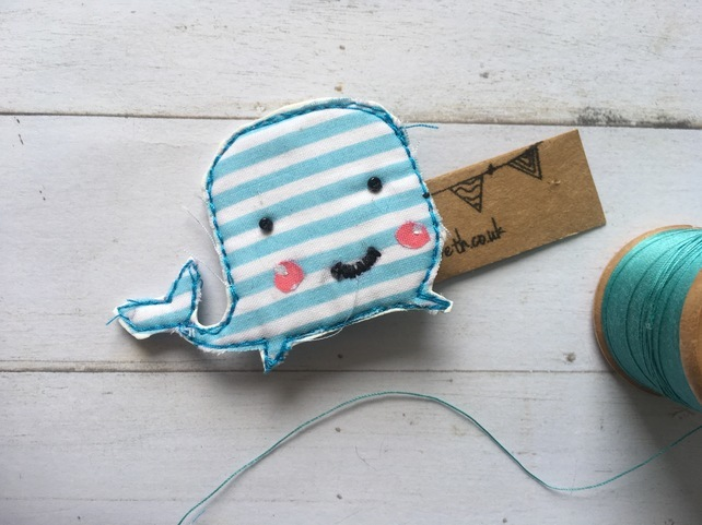whale brooch, crafty sparkle, best stocking fillers, handmade stocking fillers, animal themed christmas presents, animal themed stocking fillers, animal stocking fillers,