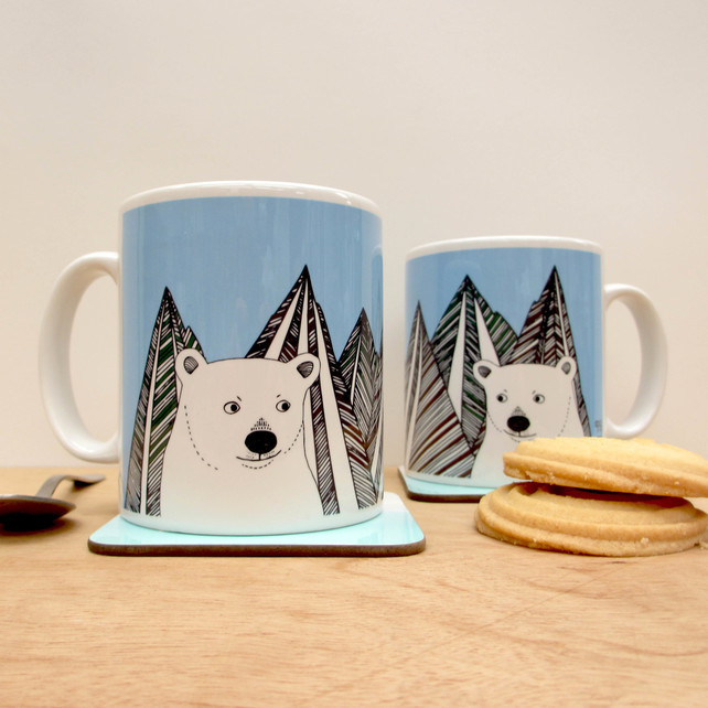 polar bear mug, Boodle Boutique, best stocking fillers, handmade stocking fillers, animal themed christmas presents, animal themed stocking fillers, animal stocking fillers,