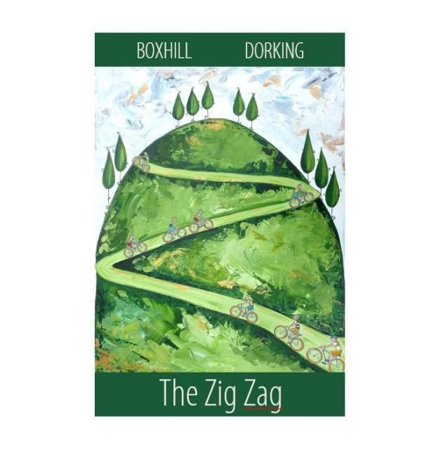 The Zig Zag, zig zag print, boxhill, Susie West, gifts for cyclists, cyclist gifts,