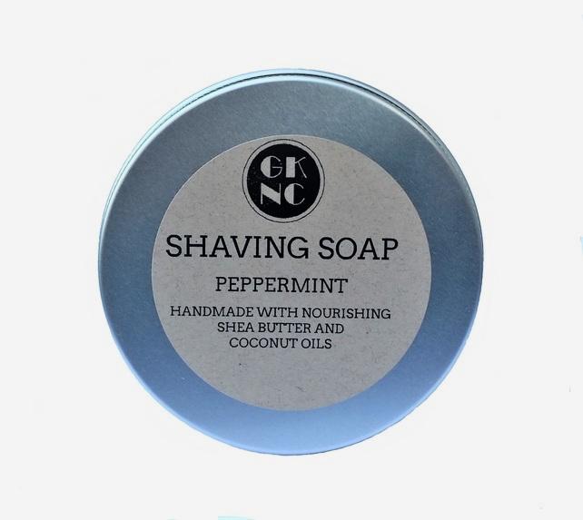 Peppermint shaving soap, handmade shaving soap, gift ideas for men, gift ideas for men, shaving soap, GK natural creations