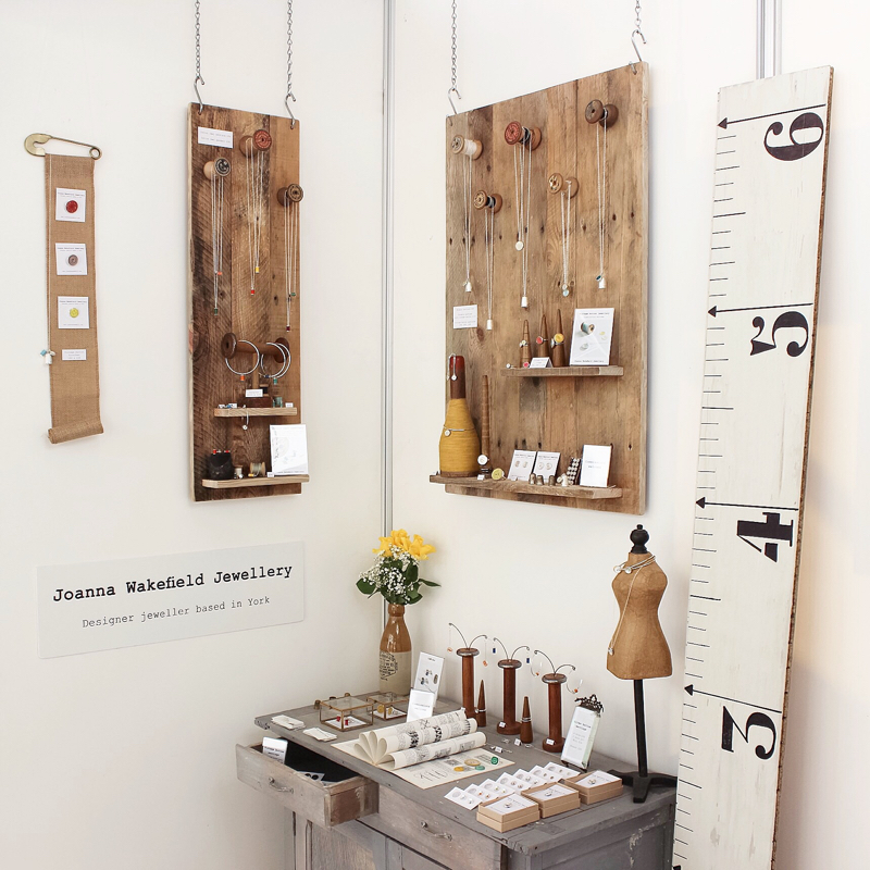 Joanna Wakefield, jewellery designer, interview, Joanna Wakefield jewellery, York designer maker, craft fair display,