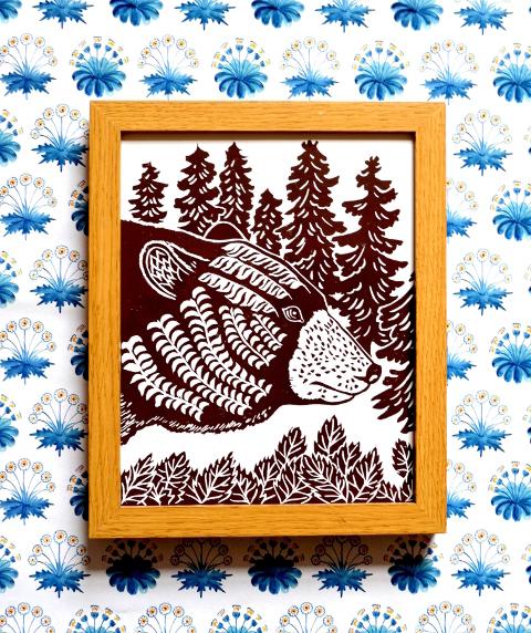 gift ideas for men, best gifts for men, handmade gifts for men, gifts for the boys, meadowlark prints, brown bear print,