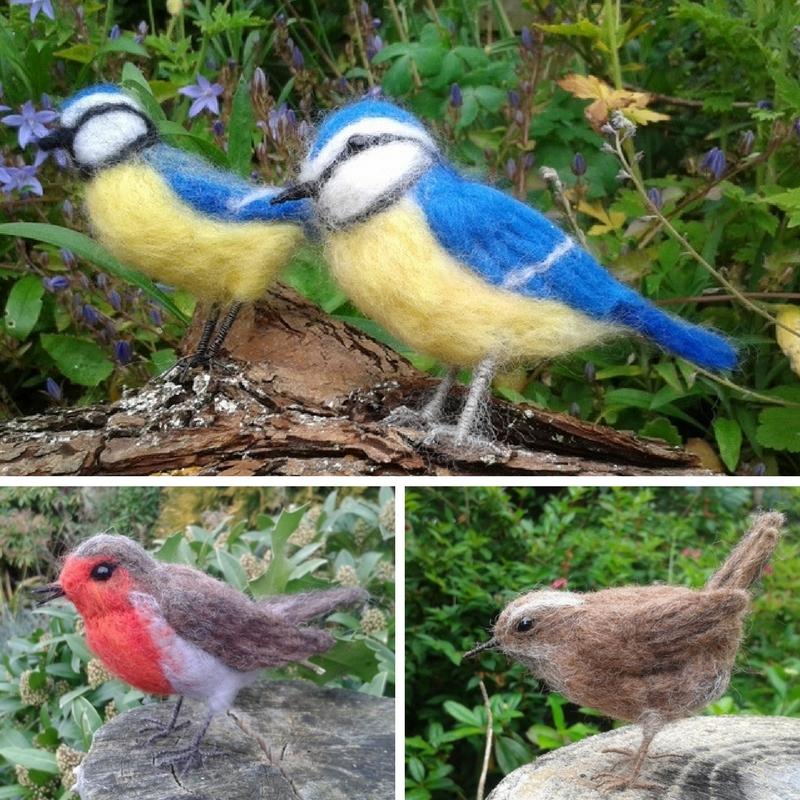 British Birds Needle Felt Kit, needle felt bird kit, needle felt birds, robin, wren, blue tit, Gifts for Bird Lovers, Gifts for bird lovers uk, gift for bird lovers,