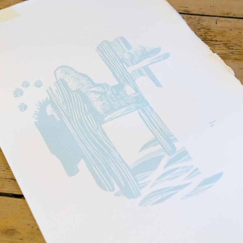 John Bloor, printmaker, British printmaker, linocut, screenprints, linocut prints, Cornwall prints, original prints,