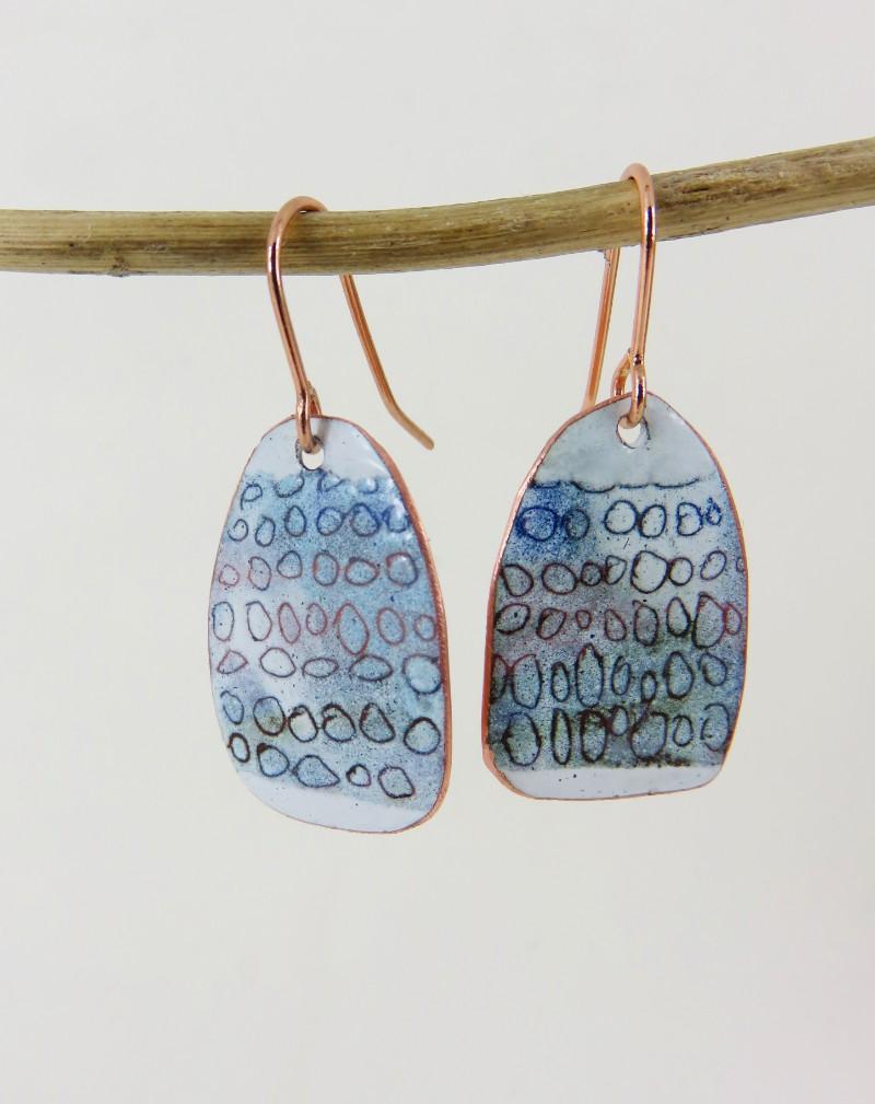 enamel jewellery, Enamel Jewelry, handmade Jewelry, 830 degrees, Justine Nettleton, enamel earrings,