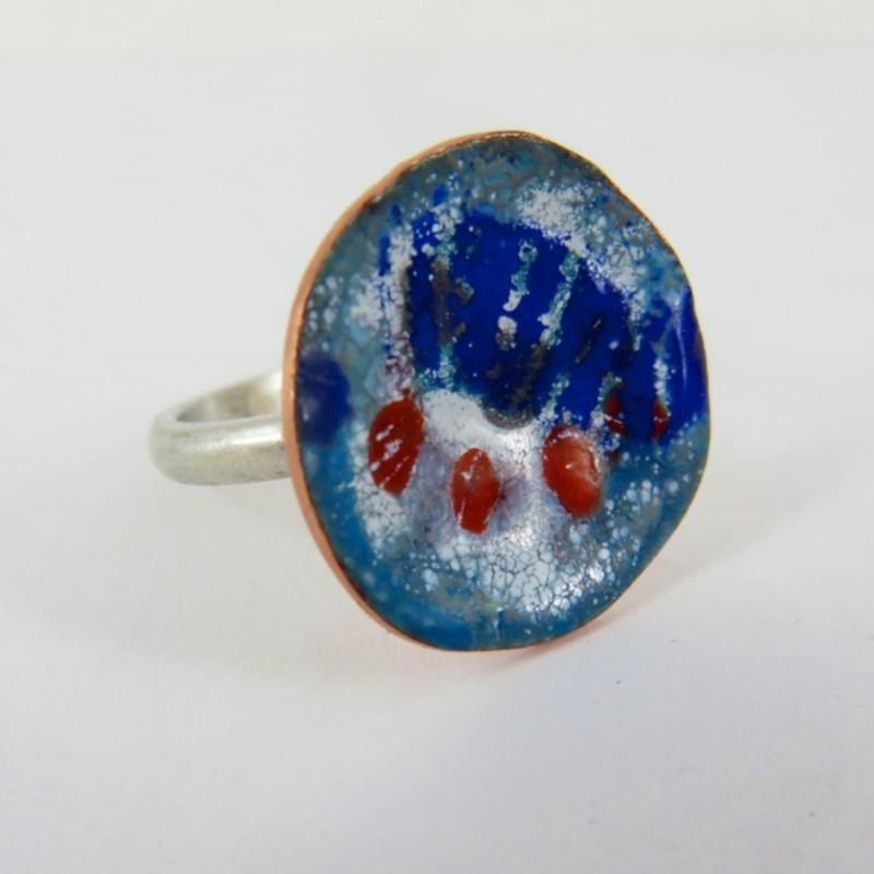 enamel jewellery, Enamel Jewelry, handmade Jewelry, 830 degrees, Justine Nettleton, enamel ring,