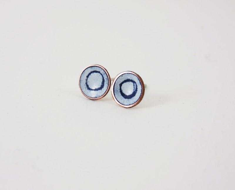 enamel jewellery, Enamel Jewelry, handmade Jewelry, 830 degrees, Justine Nettleton, enamel earrings, enamel studs,
