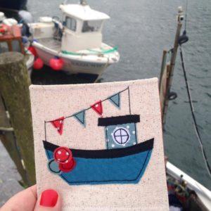 Cornish Coaster Company, handmade coasters, textile coasters, sausage dog coasters, Cornish gifts, Cornish art, Cornish maker,