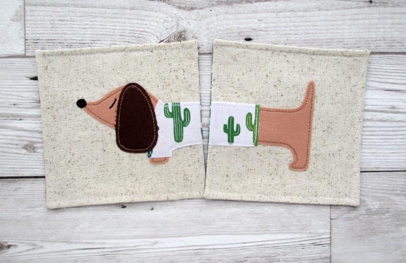 sausage dog gift, gift for sausage dog lover, dachshund coaster, cornish coaster company,