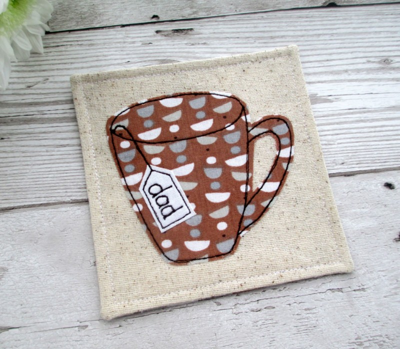 fathers day gift, fathers day coaster, Cornish Coaster Company, handmade coasters, textile coasters, sausage dog coasters, Cornish gifts, Cornish art, Cornish maker,