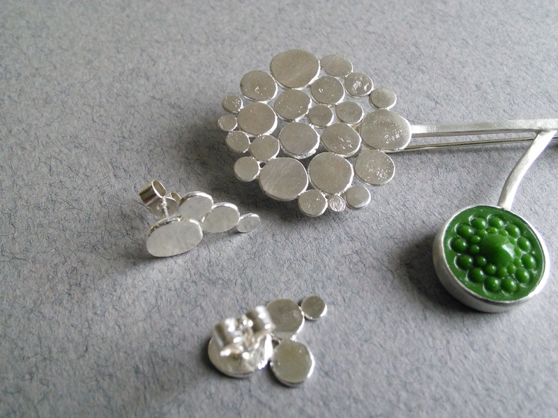 allium jewellery, silver allium jewellery, Charlotte Whitmore Jewellery Designer, Charlotte Whitmore Jewellery, Charlotte Whitmore,