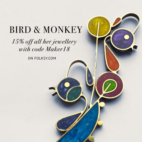Bird and Monkey Discount offer, jewellery from children's drawings,