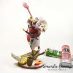 Amanda Barnes, textile mouse sculpture, Frida Kahlo,
