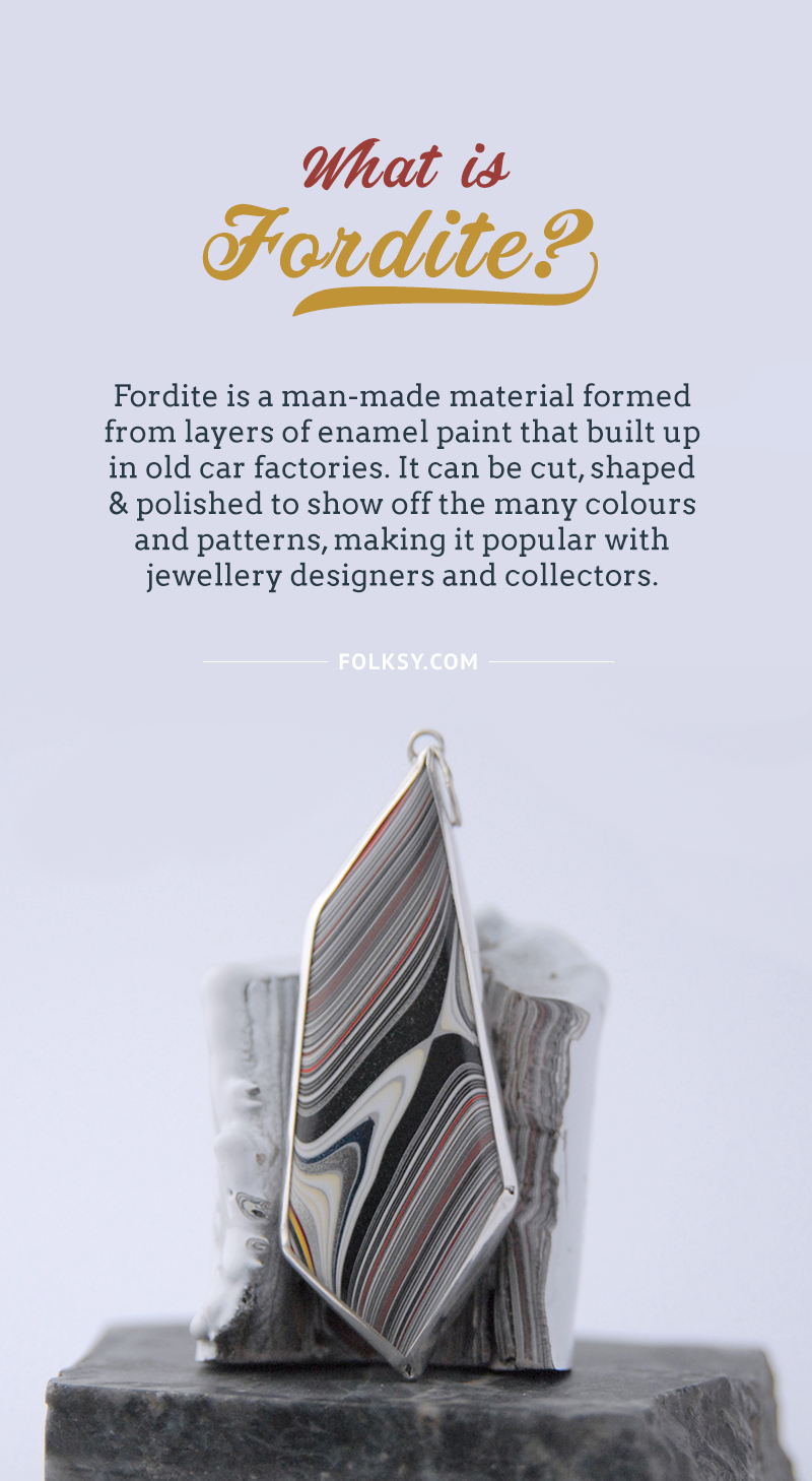 what is fordite, fordite jewellery,