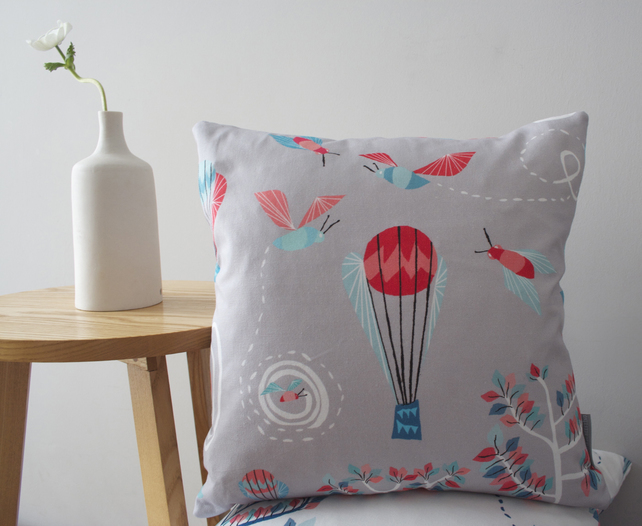 Bumble Bee Balloon Circus Cushion by Butterscotch & Beesting