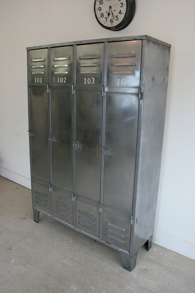 Restored Industrial Lockers from The Retro Station