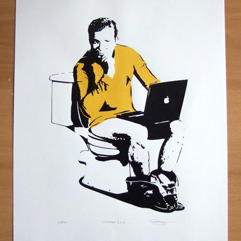 Star Trek 'Captains Log'  Screen Print by Barry D Bulsara