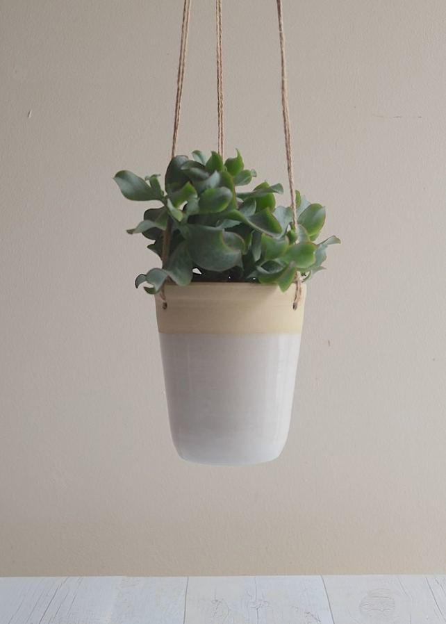 Stoneware Hanging Planter by Kara Leigh Ford