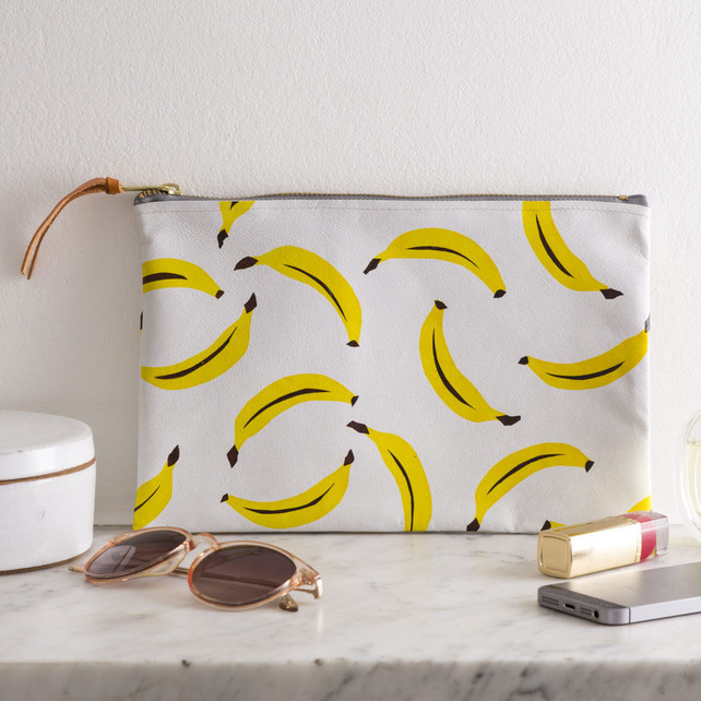Leather Banana Clutch Bag by Jenny Sibthorp