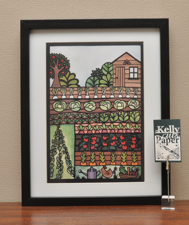 Allotment Papercut by Kelly Cuts Paper