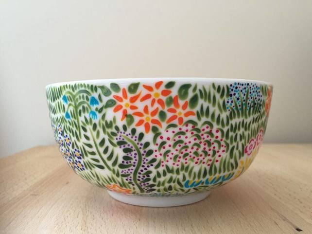 Hand-painted Meadow Bowl by The Dormouse Boutique
