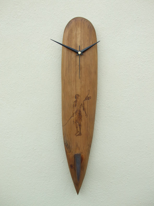 Surfboard Clock by Ocean Arts North Devon