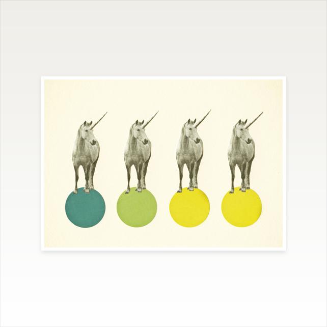 Unicorn Nursery Print by Cassia Beck Collage