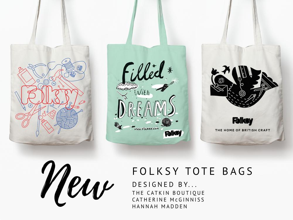 Folksy Tote Bags