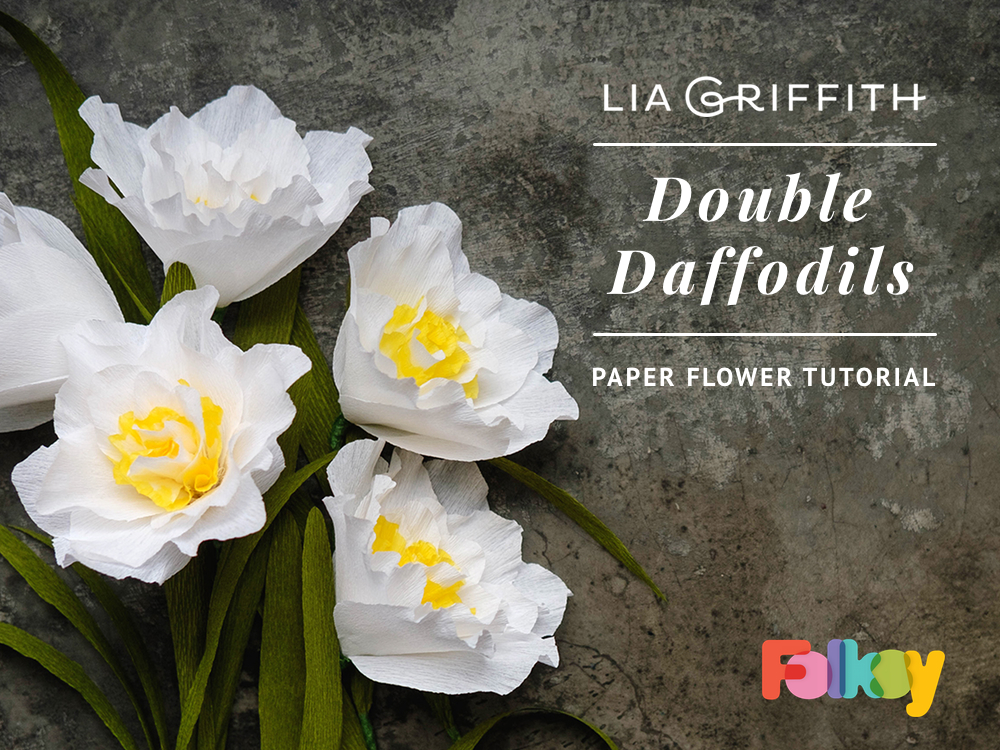 Paper Flower Tutorial Double Daffodils By Lia Griffith