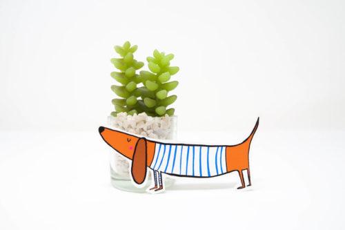 Sausage dog sticker by Hofficraft, back to school ideas 2018,