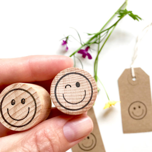 Happy face and wink face rubber stamps by Little Stamp Store, emoji stamp, back to school,