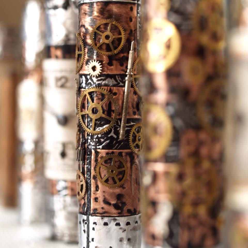 handmade pens, handmade fountain pens, RG pens, handmade ballpoint pens, steampunk pens,