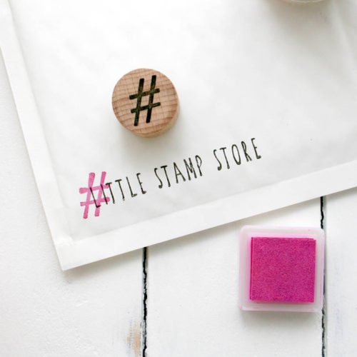hashtag stamp, Little Stamp Store, Fran Sherbourne, handmade stamps, personalised stamps, custom stamps, custom stamps uk,