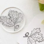 Little Stamp Store, custom stamps, oak leaf stamp