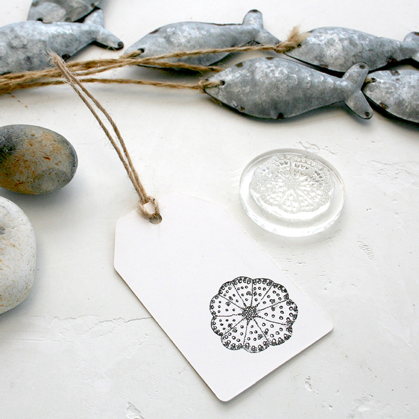 Sea Urchin Stamp, Little Stamp Store, Fran Sherbourne, handmade stamps, personalised stamps, custom stamps, custom stamps uk,