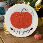 Autumn Time embroidery hoop, autumn embroidery hoop, embroidery hoop art,