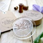 pretty business stamp, custom business stamp, little stamp store, custom rubber stamp,