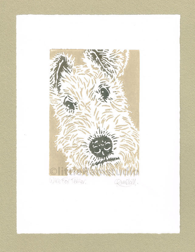 best gifts for dog lovers, gifts for dog lovers, dog gift ideas, terrier lino print,