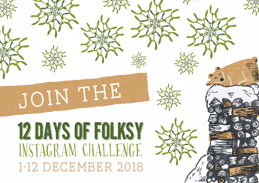 12 Days of Folksy, Instagram Challenge, Christmas Instagram Challenge, Instagram Challenge Prompts,