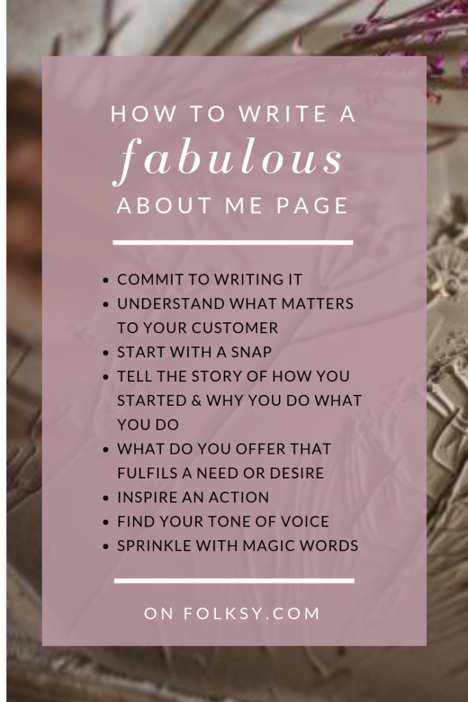 how to write a fantastic about page, About Pages, Charlotte Hupfield