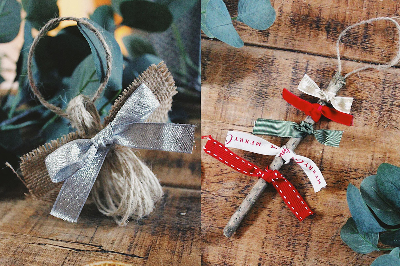 Diy Rustic Christmas Decorations Two Free Tutorials By The Poncy Pantry